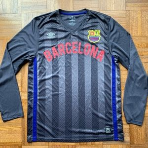 Umbro FC Barcelona Jersey Gray Blue Red, Large L